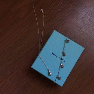 Tiffany &Co teardrop necklace and bracelet